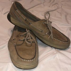Sperry Top Sider Tan Leather Boat Shoes
